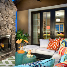 Traditional Patio by Duet Design Group