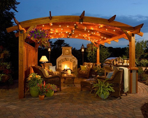 Outdoor Living Room Enchanting Outdoor Living Room  Houzz Inspiration Design