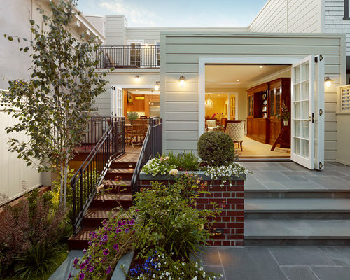Elegant Backyard Stone Patio Photo In San Francisco