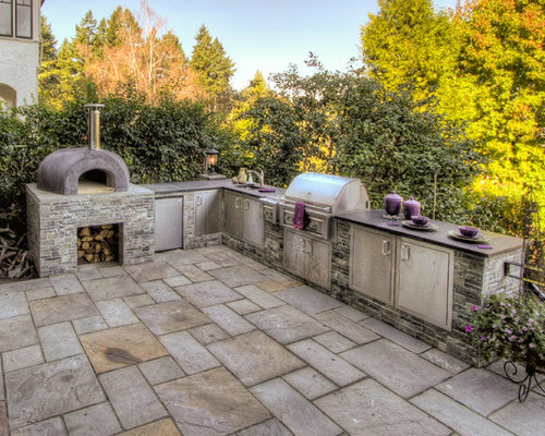 houzz outdoor kitchen pizza oven design ideas remodel pictures