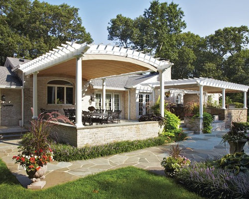 Inspiration For A Timeless Patio Remodel In Other With A Pergola