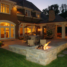 Traditional Patio by Sharratt Design & Company