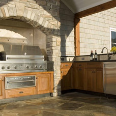 traditional patio by Small Batch Kitchens