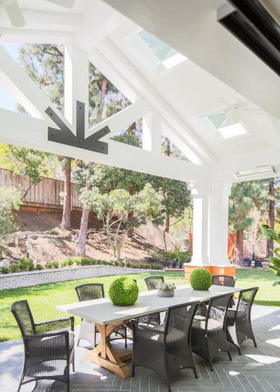 Transitional Patio by James David Custom Homes