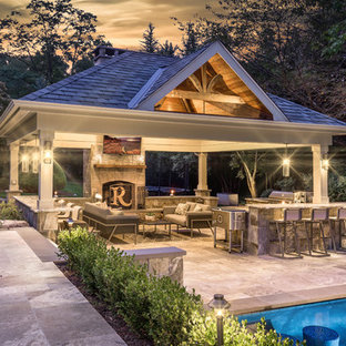 Traditional Style Outdoor Living Space