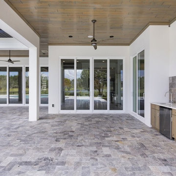 Transitional Custom Home on Lake Clarice in Windermere