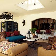 Mediterranean Patio by Wendy Black Rodgers Interiors