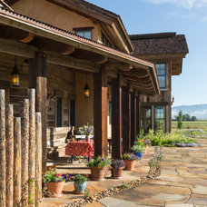 Rustic Patio by Lynne Barton Bier - Home on the Range Interiors