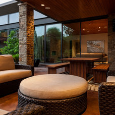 Transitional Patio by Stocker Hoesterey Montenegro