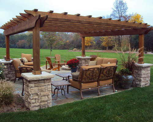 Craftsman style pergola home design ideas pictures remodel and decor