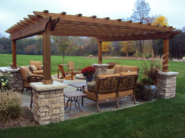 Traditional Patio by Treasured Earth