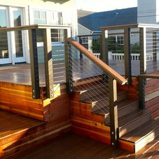 Beach Style Patio by San Diego Cable Railings