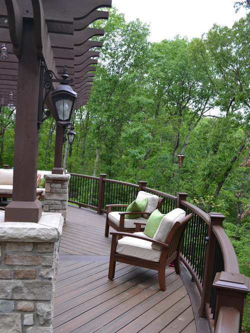 Bi Level Deck Home Design Ideas Pictures Remodel And Decor: Curved Railing