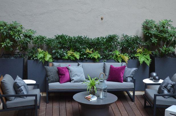 Cute Contemporary Patio by Jeffrey Erb Landscape Design