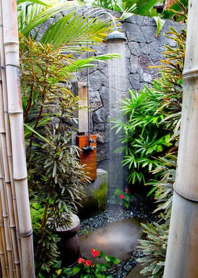 Tropical Patio Tropical Bathroom