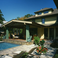 craftsman patio by Gardner Mohr Architects LLC