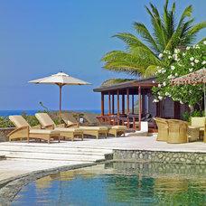 Mediterranean Patio by Vogue Interiors