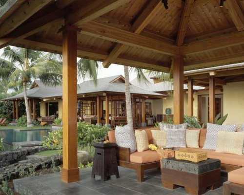 inspiration for a tropical patio remodel in hawaii - Balinese Houses Designs