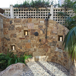 Tropical Stone Outdoor Shower