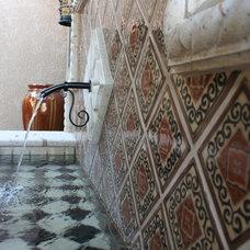 Mediterranean Patio by Prideaux Design
