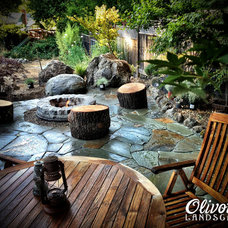 Traditional Patio by Olivotti Landscape
