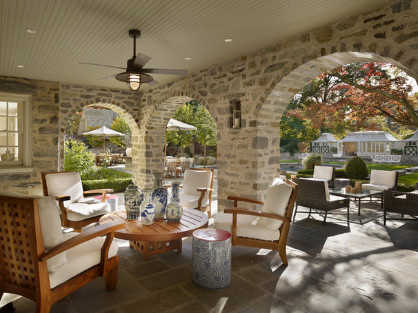 Contemporary Patio by Philip Ivory Architects