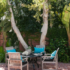 Transitional Patio by Lulu Designs