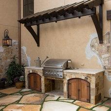 Mediterranean Patio by Ellis Custom Homes LLC
