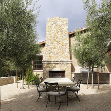 Mediterranean Patio by Taylor Lombardo Architects