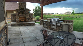 Twin Eagles Outdoor Kitchen and Outdoor Fireplace