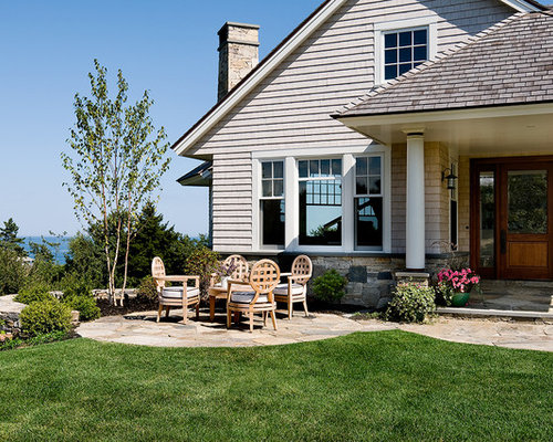 front patio designs patios front yard landscaping ideas beach style patio idea in portland maine with - Front Patio Designs