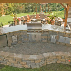 Traditional Patio by Stone Solutions