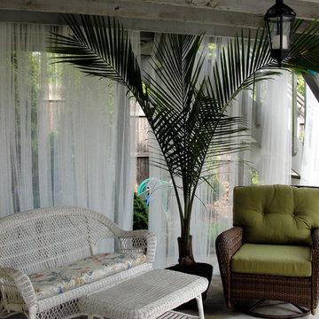 Under deck cabana seating area