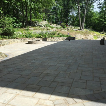 Unilock Beacon Hill Bavarian Patio and Fire Pit Installation