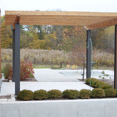 Contemporary Patio by Design Group Three