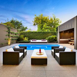 Photo of a contemporary patio in Melbourne.