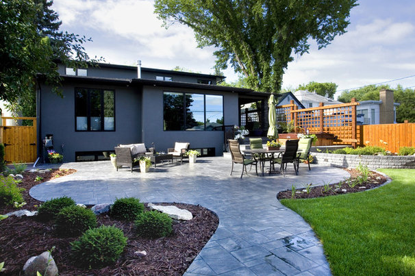 Contemporary Patio by Country by Design