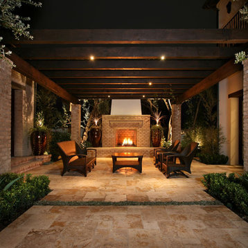 Contemporary Courtyard Covering : Covered Courtyard Patio Design Ideas, Pictures, Remodel & Decor