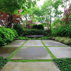 Contemporary Patio by Paul Sangha Landscape Architecture