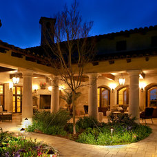 Mediterranean Patio by Ron Herman Landscape Architect