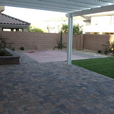Mediterranean Patio by Taylormade Landscapes, LLC