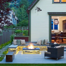 Transitional Patio by Jason Dewey Photography