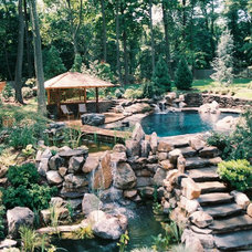 Eclectic Patio by Armond Aquatech Pools