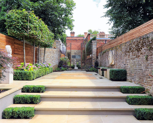 Stone Garden Steps Stone garden steps houzz inspiration for a timeless stone patio remodel in london workwithnaturefo