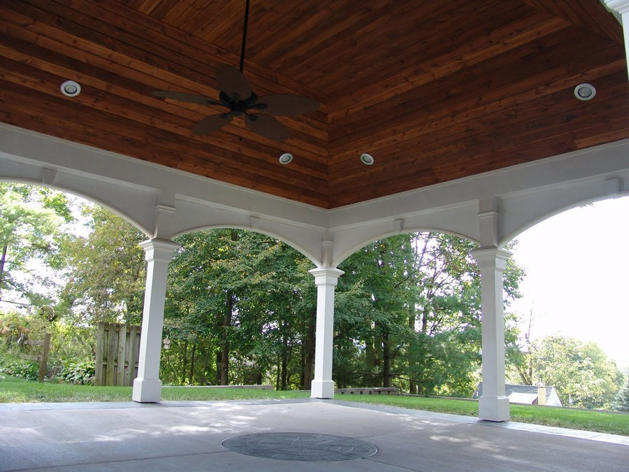 Vaulted covered patio