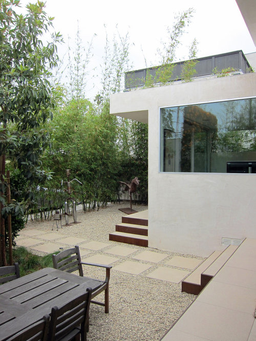 Attrayant Inspiration For A Modern Gravel Patio Remodel In Los Angeles