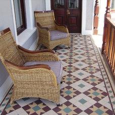 Traditional Patio by Herbeau - Winckelmans Tiles - Line Art Vanities
