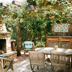 eclectic patio by Robert Shuler Design