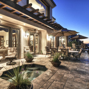 Inspiration for a mediterranean patio remodel in Los Angeles