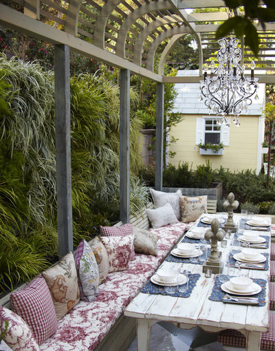 Shabby-chic Style Patio by GreenSpace Vertical Gardens